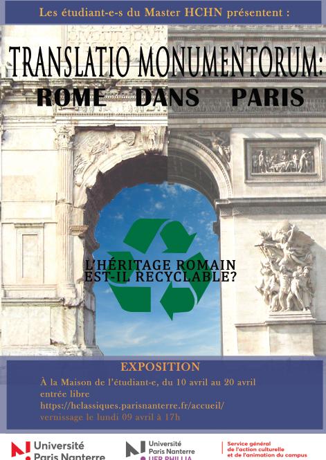 Affiche expo Rome dans Paris